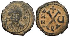 Ancient Coins - Maurice Tiberius 582-602 A.D. Decanummium Constantinople Mint Good Fine