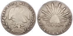 World Coins - MEXICO 1843-Pi AM 4 Reales VF