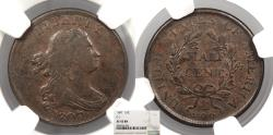 Us Coins - 1807 Draped Bust 1/2 Cent C-1 NGC EF-45
