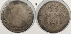 World Coins - PERU: 1792-LIMAE IJ Charles IV 2 Reales