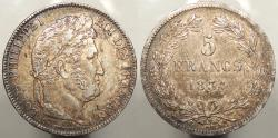 World Coins - FRANCE: 1834-B 5 Francs