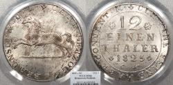 World Coins - GERMAN STATES Brunswick-Wolfenbuttel Karl II 1825-CvC 1/12 Thaler (Doppelgroschen) PCGS MS-66