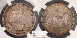 Us Coins - 1841-O Seated Liberty 50 Cents (Half Dollar) NGC MS-62