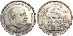 World Coins - SPAIN: 1957 (72) 50 Pesetas