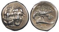 Ancient Coins - Moesia Istros c. 4th Century B.C. Drachm VF