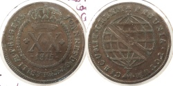 World Coins - BRAZIL: 1815-B 20 Reis