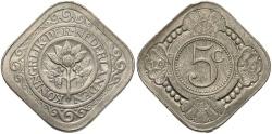 World Coins - NETHERLANDS: 1929 5 Cents