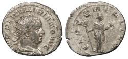 Ancient Coins - Valerian I 253-260 A.D. Antoninianus Viminacium Mint VF
