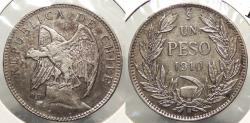 World Coins - CHILE: 1910-So Peso