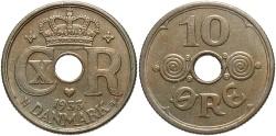 World Coins - DENMARK: 1933 10 Ore