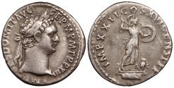 Ancient Coins - Domitian 81-96 A.D. Denarius Rome Mint Good VF