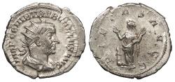 Ancient Coins - Trebonianus Gallus 251-253 A.D. Antoninianus Milan Mint Good VF