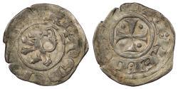 World Coins - CRUSADERS Kingdom of Cyprus Henri II, Second Reign 1310-1324 Denier Third series Good VF