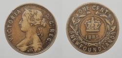 World Coins - CANADA: Newfoundland 1885 Victoria. Cent