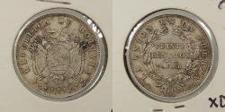 World Coins - BOLIVIA: 1909-H 20 Centavos
