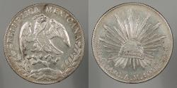 World Coins - MEXICO: 1890-Cn AM 8 Reales