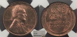 Us Coins - 1929 S Lincoln 1 Cent NGC MS-64 RB
