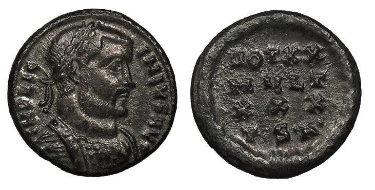 Ancient Coins - Licinius I 308-324 A.D. Follis Thessalonica Mint Good VF