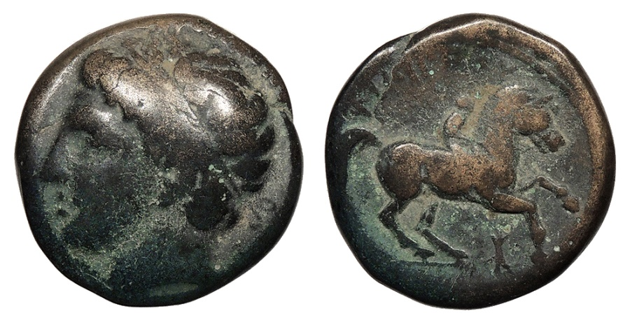 Ancient Coins - Kings of Macedon Philip II 359-336 BC AE18 Good Fine