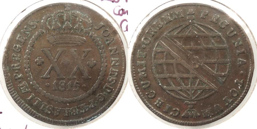 World Coins - BRAZIL: 1815-B 20 Reis
