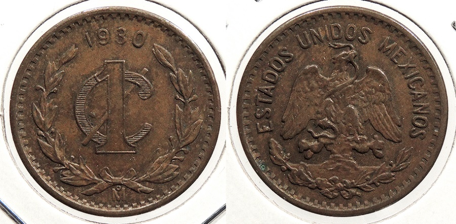 World Coins - MEXICO: 1930-Mo Centavo