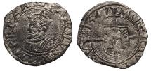 World Coins - FRANCE Besançon Charles V, as Holy Roman Emperor 1530-1556 1/2 Blanc 1547 VF