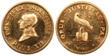 World Coins - VATICAN CITY Heraeus Mint, Hanau, Germany. Ca. 1950 AV 23mm Medal Proof