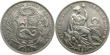 World Coins - PERU: 1934 1 Sol