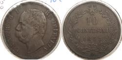 World Coins - ITALY: 1893-BI 10 Centesimi