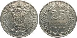 World Coins - GERMANY: 1910-J 25 Pfennig