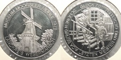World Coins - GERMAN STATES: Wesermarsch 1978 Moorseer Mill Museum. 38mm Medal Proof