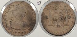 World Coins - PERU: 1798-LIMAE IJ Charles IV 2 Reales