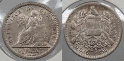 World Coins - GUATEMALA: 1895 1/2 Real