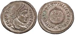 Ancient Coins - Constantine I, the Great 307-337 A.D. Follis Ticinum Mint EF