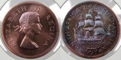 World Coins - SOUTH AFRICA: 1953 Elizabeth II 1/2 Penny Proof