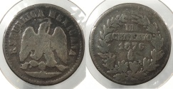 World Coins - MEXICO: 1876-Ga Centavo