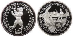 World Coins - SWITZERLAND Appenzell 1986 50 Francs Proof