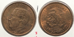 World Coins - MEXICO: 1959-M 10 Centavos
