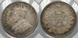 World Coins - INDIA: 1919(b) George V 1/2 Rupee