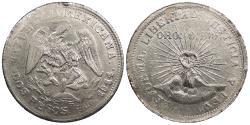 World Coins - MEXICO Guerrero 1914 2 Pesos Choice AU