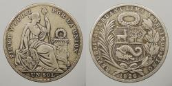 World Coins - PERU: 1926 Sol
