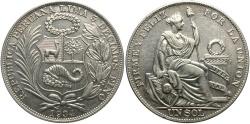World Coins - PERU: 1934 1 Sol