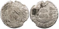 World Coins - MEXICO Charles (Carlos) III 1763-Mo M 2 Reales 'Pistareen' No Grade