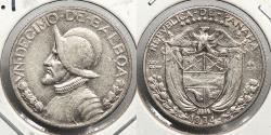 World Coins - PANAMA: 1934 Key date 1/10 Balboa (Decimo)