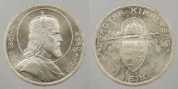 World Coins - HUNGARY: 1938 Proof-like. 5 Pengo