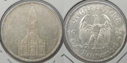 World Coins - GERMANY: 1934-D 5 Mark