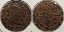 World Coins - SPAIN: 1831 2 Maravedis