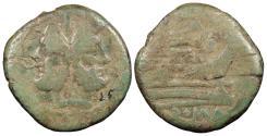 Ancient Coins - Anonymous 206-195 B.C. As Rome Mint Fine