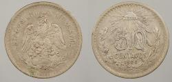 World Coins - MEXICO: 1906-M 50 Centavos