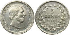 World Coins - NETHERLANDS: 1876 5 Cents